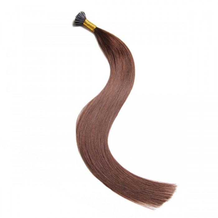 Remy Hair I-Tip Hair Extensions-Micro Series-Dark Brown