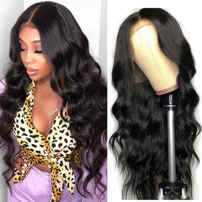 Kriyya 13x6 Lace Frontal Wigs Body Wave 180% Density Virgin Human Hair Wig