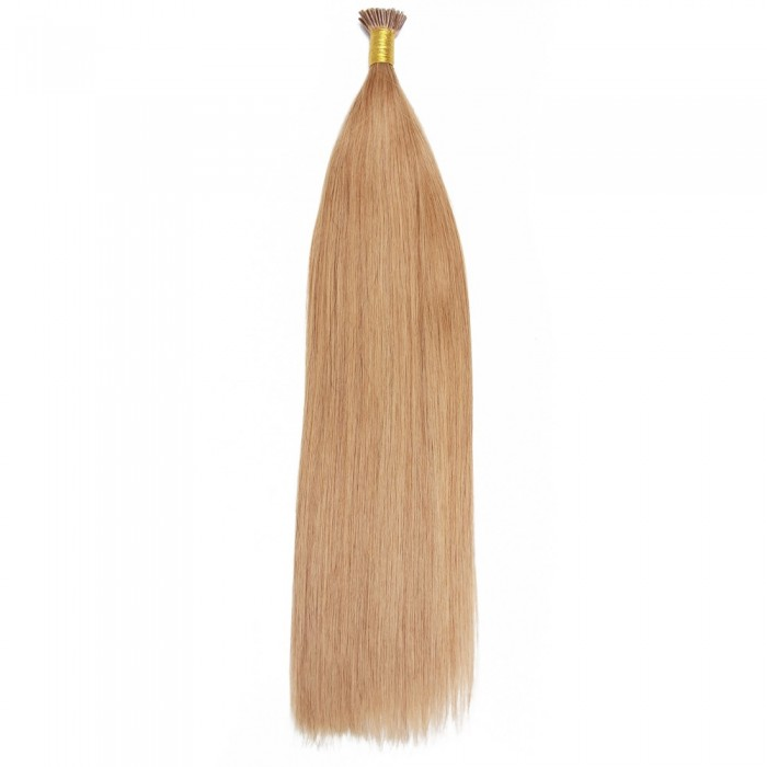 Kriyya 100% Remy I-Tip Hair Extensions-Gold Blonde