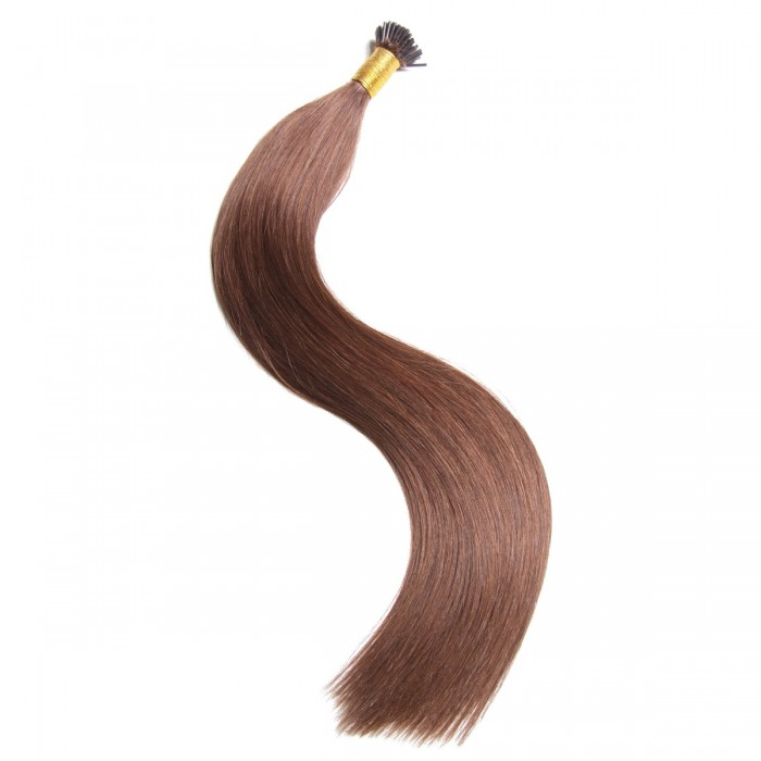 Remy Hair I-Tip Hair Extensions-Micro Series-Chocolate Brown