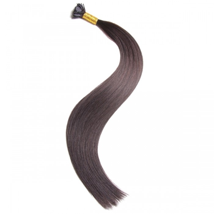Remy Hair I-Tip Hair Extensions-Micro Series-Off Black