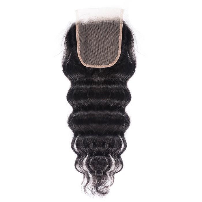 Kriyya Natural Wave Human Hair 4*4 Lace Closures With Baby Hair