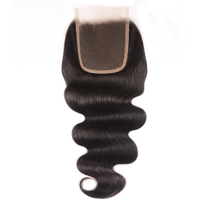 Kriyya Body Wave Virgin Remy Hair 4x4 Lace Closure Natural Color