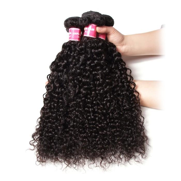 Kriyya Curly Indian Hair 4 Bundles 100 Human Hair Weaving 9A Virgin Hair