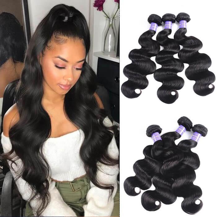 Kriyya Body Wave Virgin Human Hair 3 Bundles 7A Human Hair Weave Bundles