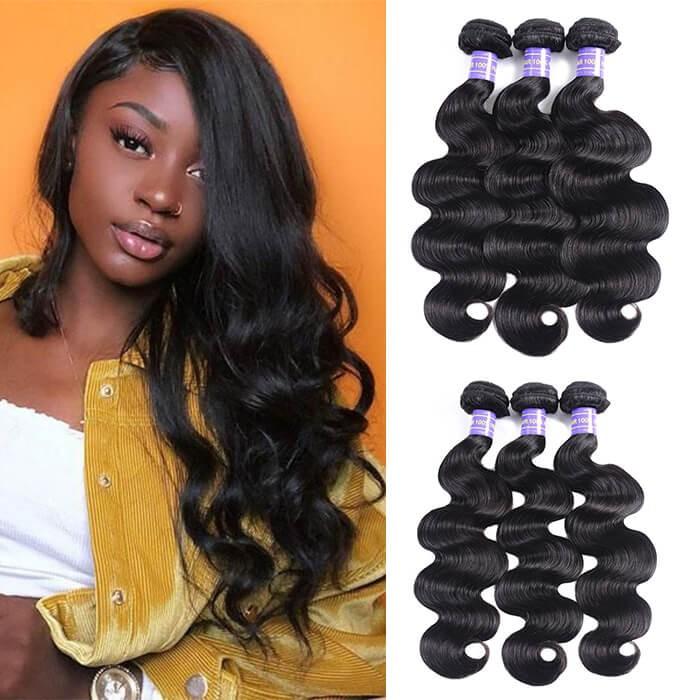 Kriyya Body Wave Unprocessed Virgin Hair 3 Bundles Human Hair Weave