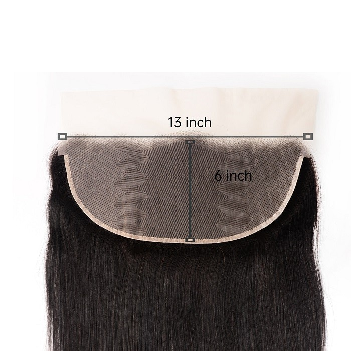 Kriyya Pre-Plucked Straight 100% Virgin Human Hair 13x6 Lace Frontal