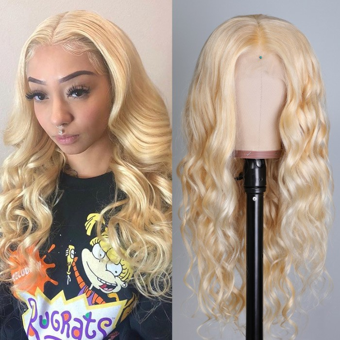 Kriyya Soft 613 Body Wave Blonde Lace Front Wigs 13x4 150% Density Virgin Human Hair Wigs