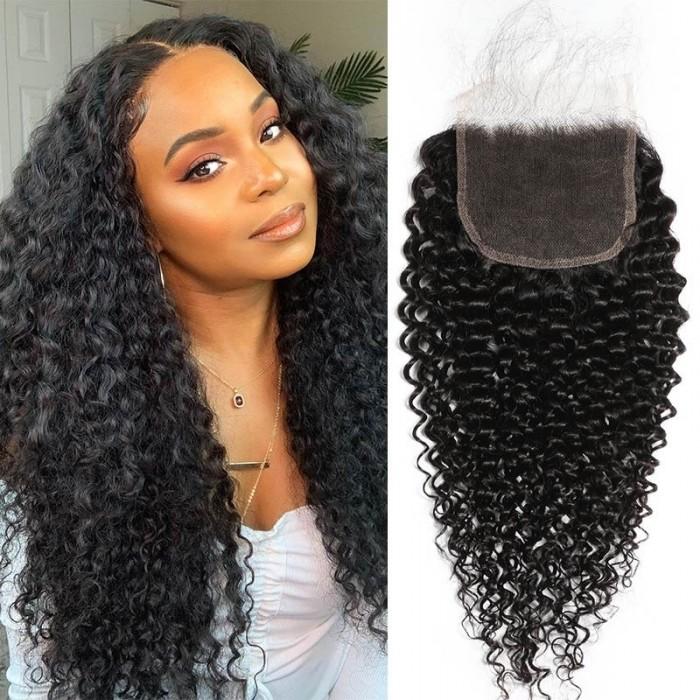 Kriyya 5x5 HD Lace Closure Jerry Curly Virgin Hair Transparent Lace Closure