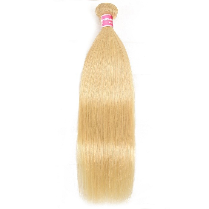 Kriyya Best Human Hair Weave 1bundle 613 Straight Blonde Hair