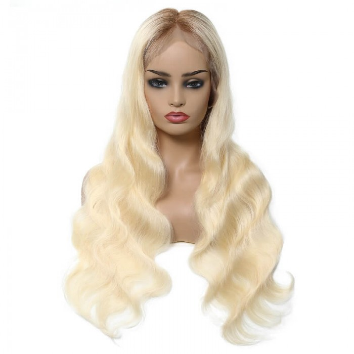 Lara | Lace Front Pre Plucked Blonde Wavy Remy Human Hair Wig