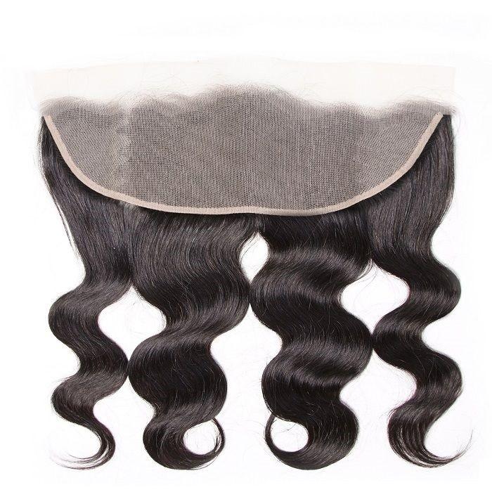 Kriyya 13x4 Lace Transparent Frontal Body Wave Human Hair Free Part Closure