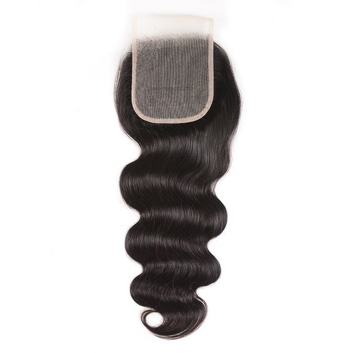 Kriyya Body Wave Transparent Lace Closure Remy Human Hair 4*4 Lace Closure