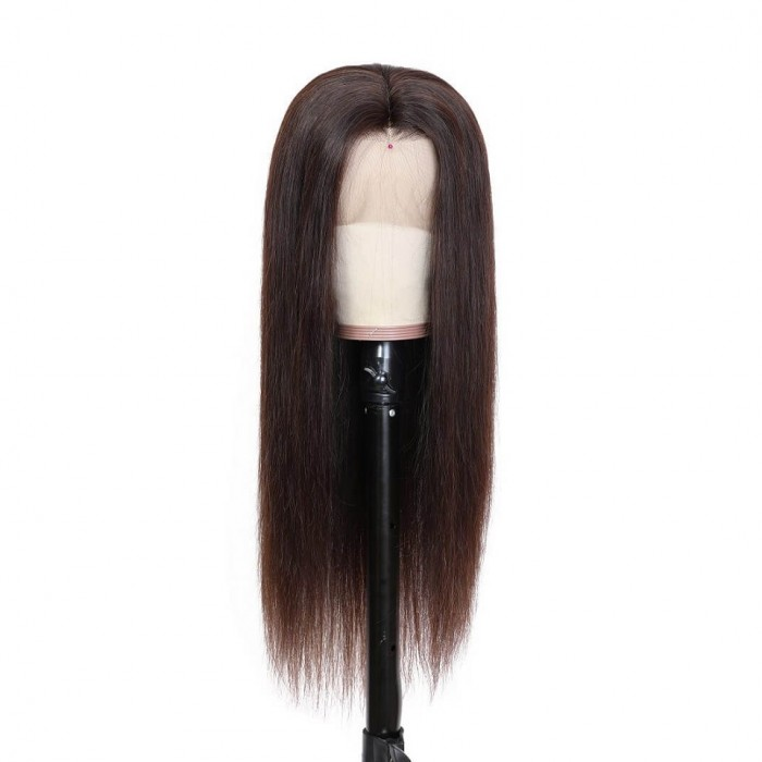 Celeste | 13*4 Lace Front Pre Plucked Dark Brown Human Hair Wig