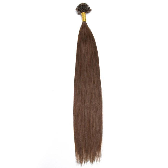 Kriyya U-Tip Hair Extensions Micro Nail Tip Chocolate Brown