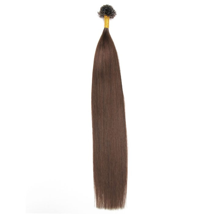 Kriyya U-Tip Hair Extensions Micro Nail Tip Hair Extensions Dark Brown