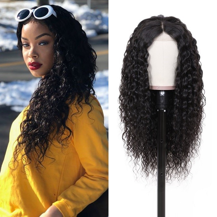 Kriyya Water Wave 13X4 Lace Front Wigs With Baby Hair 100% Virgin Human Hair 130% Density