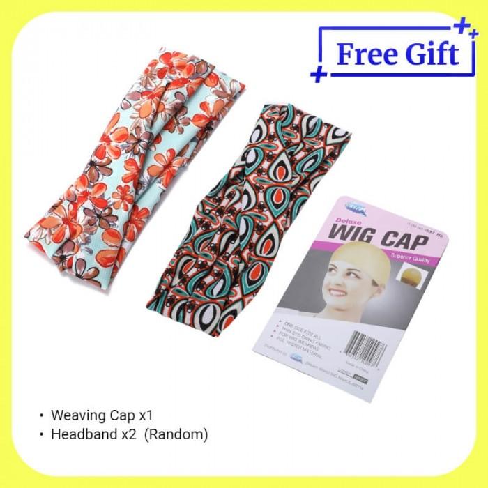Free Gift -  (Random) Extra 2 Headbands & Weaving Cap