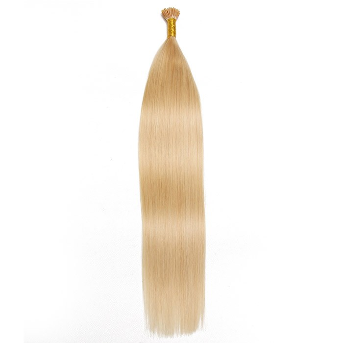 Remy Hair I-Tip Hair Extensions-Micro Series-Platinum Blonde