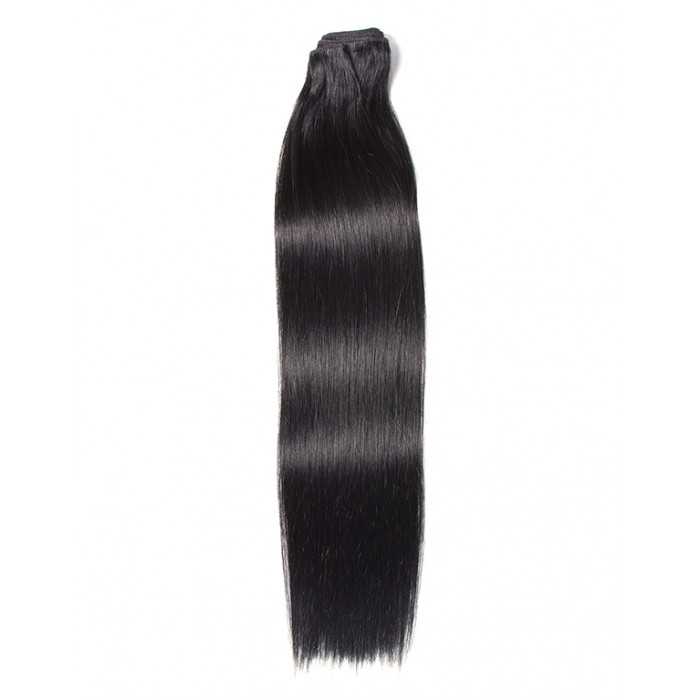 Kriyya 100% Remy Volumizer Hair Weft-Jet Black