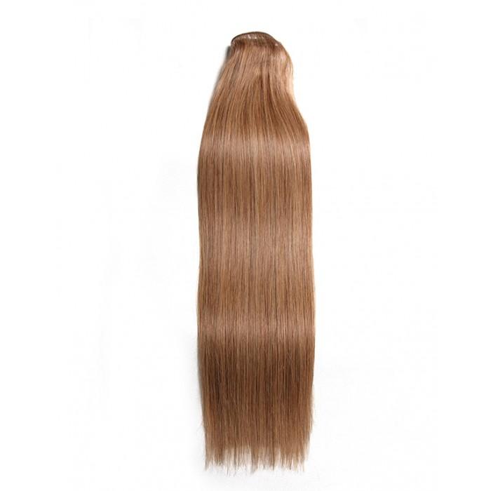 Kriyya 100% Remy Volumizer Hair Weft- Light Golden Brown