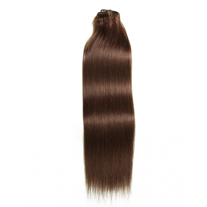 Kriyya 100% Remy Volumizer Hair Weft-Chocolate Brown