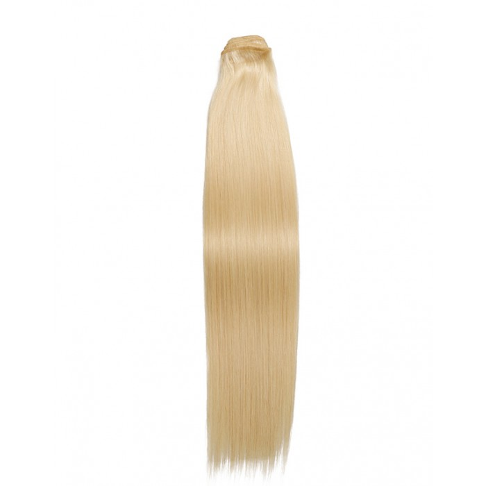 Kriyya 100% Remy Volumizer Hair Weft-Platinum Blonde