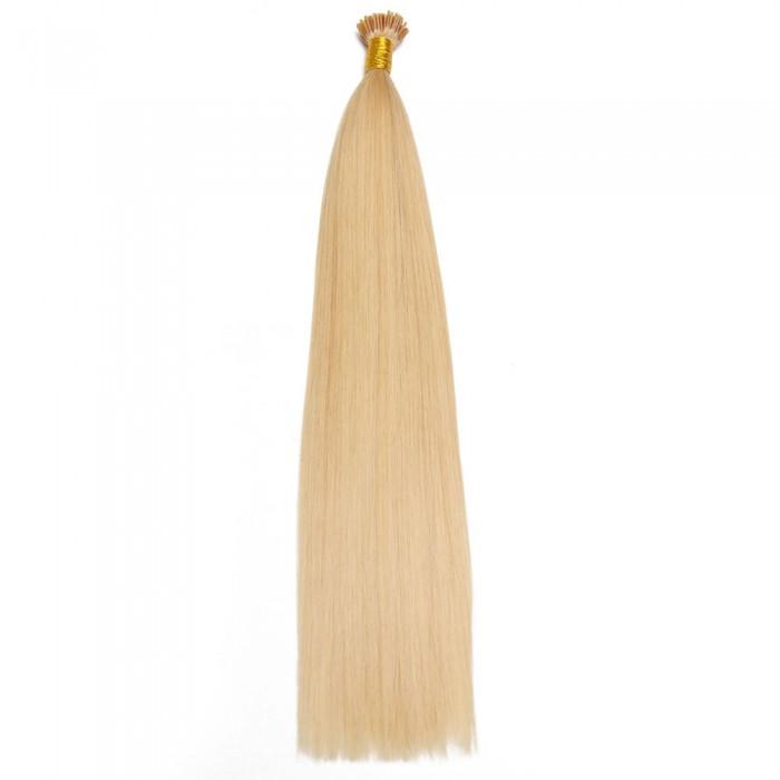 Kriyya 100% Remy I-Tip Hair Extensions-Blonde