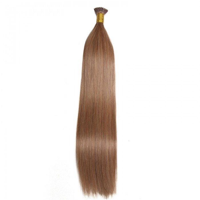 Kriyya 100% Remy I-Tip Hair Extensions- Light Golden Brown