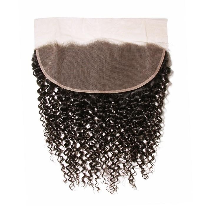 Kriyya Human Hair Ear to Ear 13x4 Lace Frontal Jerry Curly Virgin Hair With Baby Hair