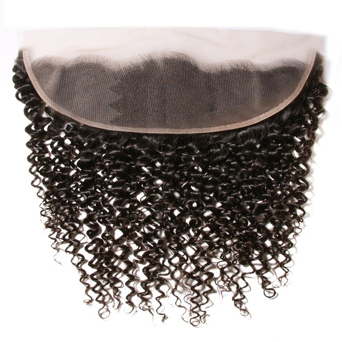 Kriyya Jerry Curly Virgin Human Hair 13x4 Transparent Lace Closure