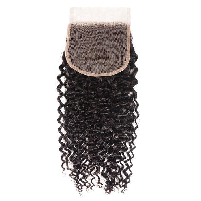 Kriyya Virgin Human Hair 5x5 Lace Closure Jerry Curly Virgin Hair