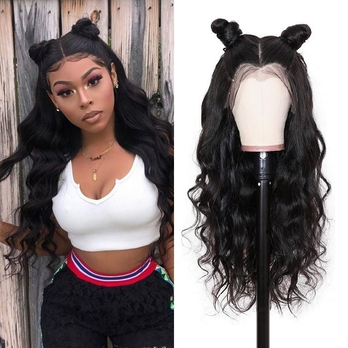 Kriyya Pre Plucked 360 Lace Frontal Wig 180% Density Body Wave Wet And Wavy Remy Human Hair Wigs