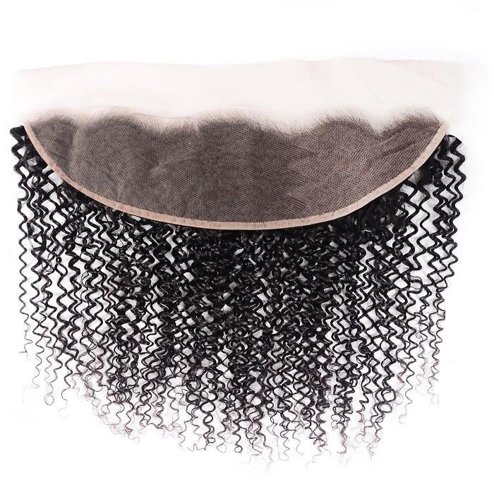 Kriyya 13x4 Ear to Ear Lace Frontal 100% Virgin Hair Kinky Curly Human Hair