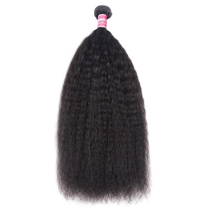 Kriyya 1 Piece Kinky Straight Hair Weave Unprocessed Human Hair