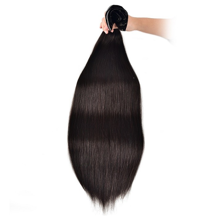 Kriyya Seamless Hair Extensions Clip Ins Natural Black Hair Color Real Hair Extensions