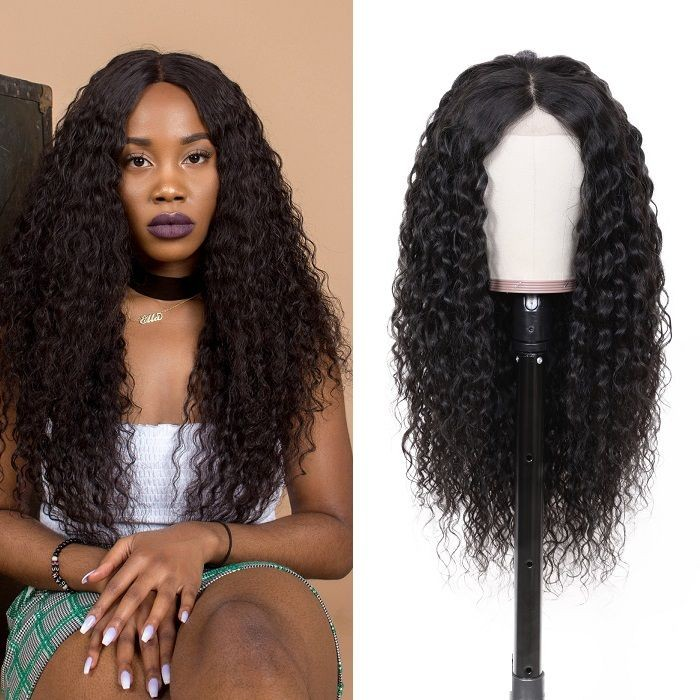 Kriyya Best Brazilian Water Wave Wig 13x4 Lace Front Wigs 150% Density Human Hair