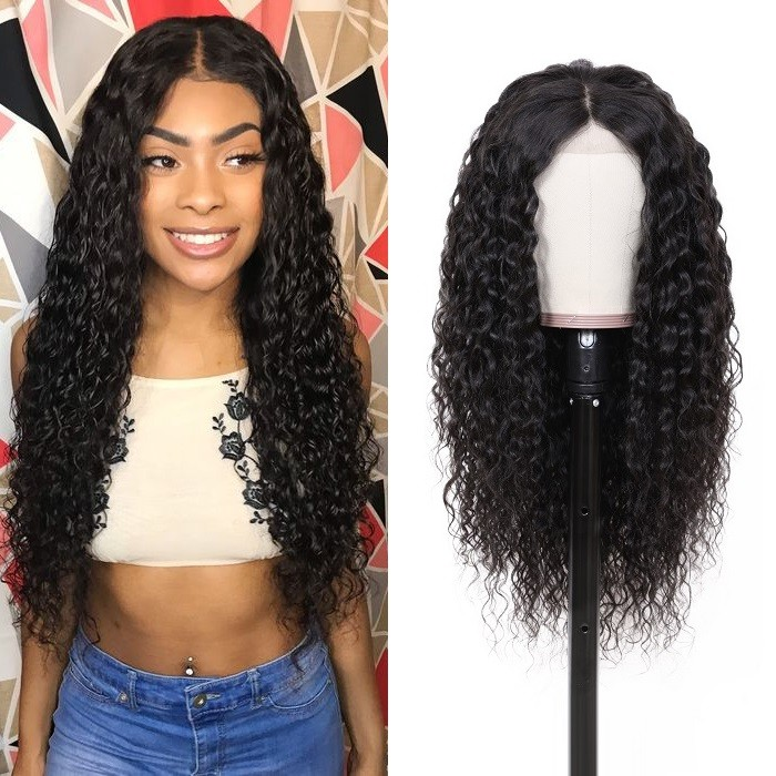 Kriyya 13x6 Water Wave Lace Front Wigs Human Hair 130 150 And 180% Density Wigs For Black Women