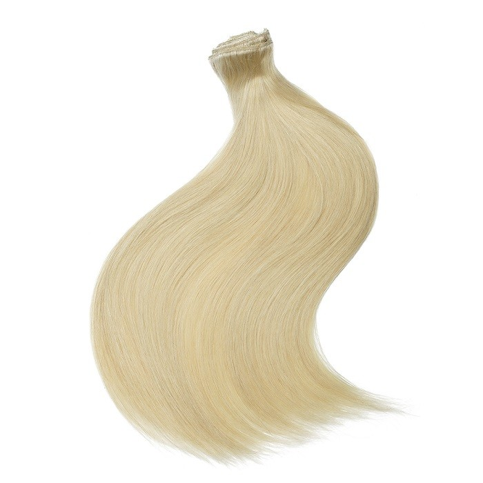 Kriyya Clip In Hair Extensions Blonde Remy Hair 22 Inch Hair Extensions