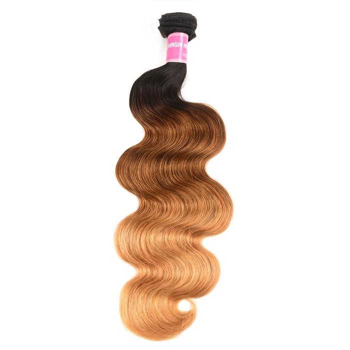 Kriyya Body Wave 1 Bundle T1B/4/27 Ombre Hair 100 Human Hair Bundles