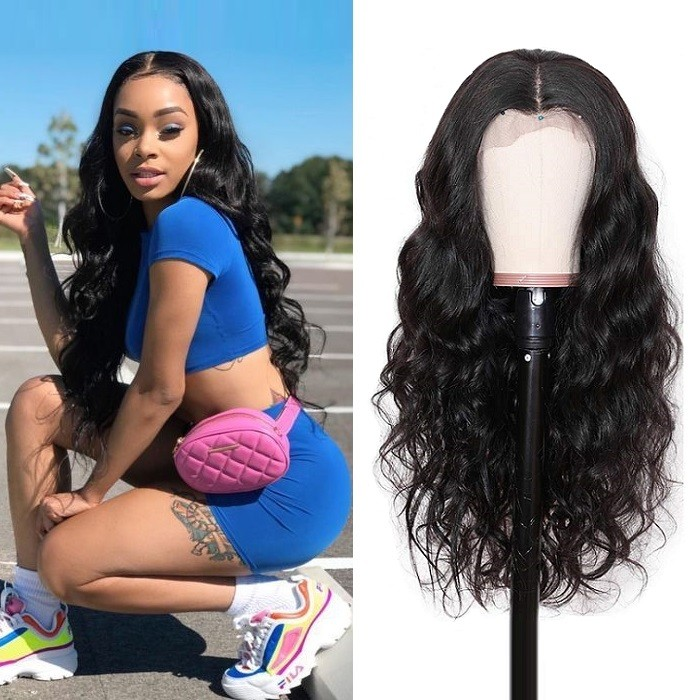 Kriyya Body Wave Human Hair Transparent 13x4 And 13x6 180% Density Lace Front Human Hair Wigs