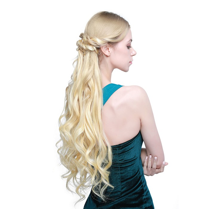 Kriyya Best Clip In Hair Extensions Blonde Remy Hair 24 Inch