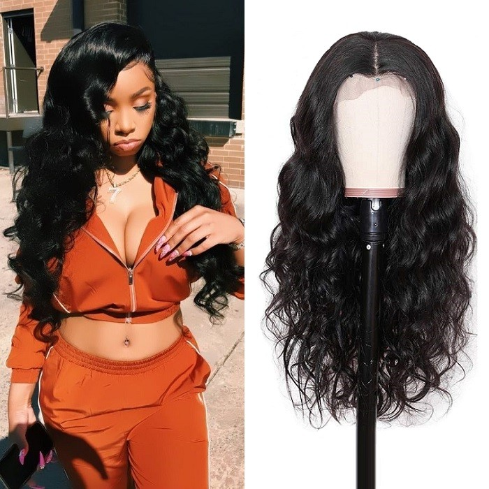 Kriyya Hair Full Lace Human Hair Wigs 180% Body Wave Wigs Pre Plucked With Baby Hair