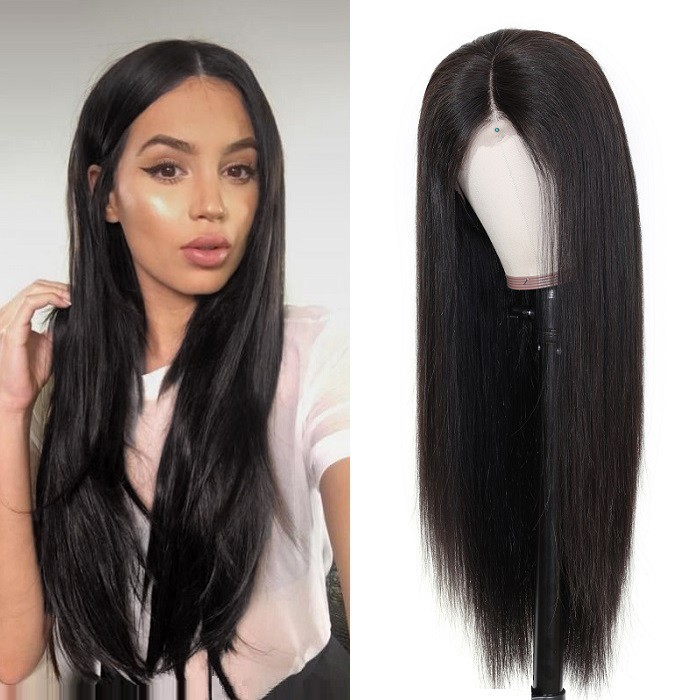 Kriyya Hand Tied 360 Lace Frontal Wig Straight Human Hair Wigs For Women 150% 180% Density
