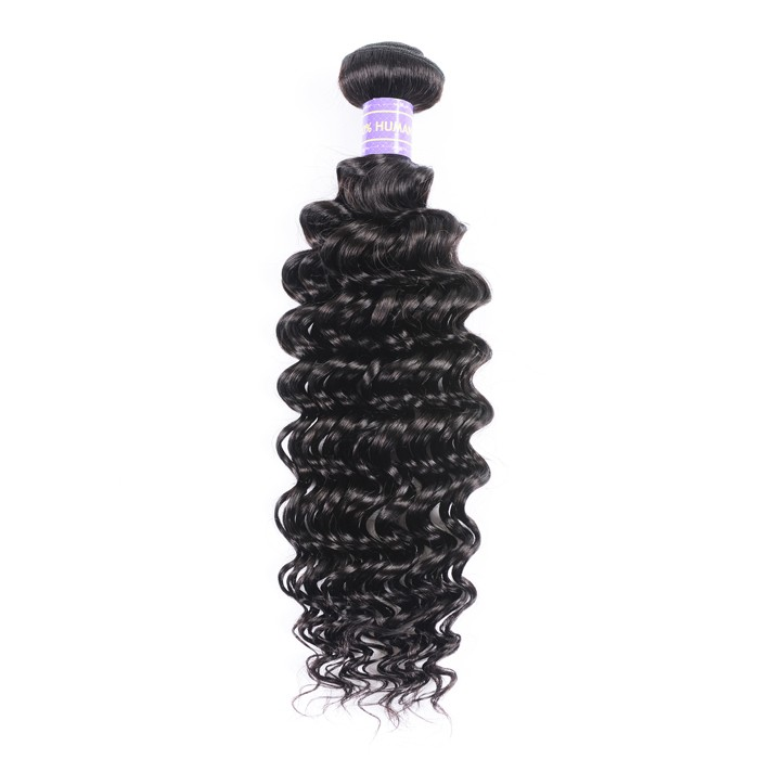 Kriyya Human Hair Weave 1bundle Deep Wave Sew In