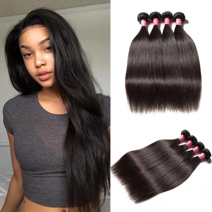 Kriyya Indian Straight 4 Bundles Virgin Human Hair 9A Virgin Hair
