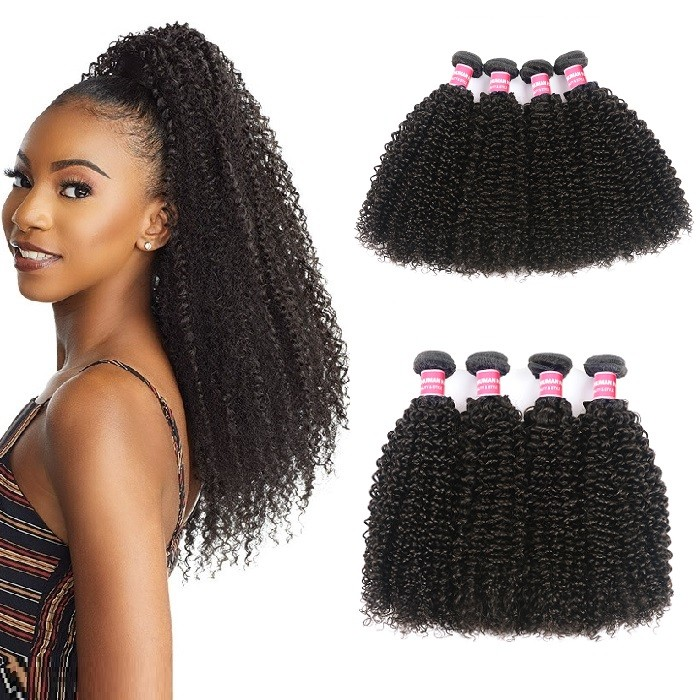 Kriyya Kinky Curly Bundles Brazilian Virgin Hair 4 Bundles