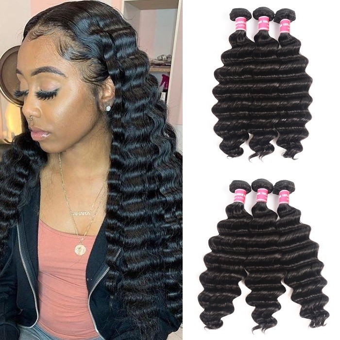 Kriyya Loose Deep Wave Hair 3 Pcs Virgin Human Hair Malaysian Weave Hair
