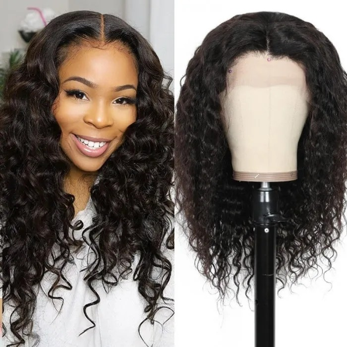 Kriyya Loose Wave Wig 13x4 Pre Plucked Lace Frontal Wig 150% Density