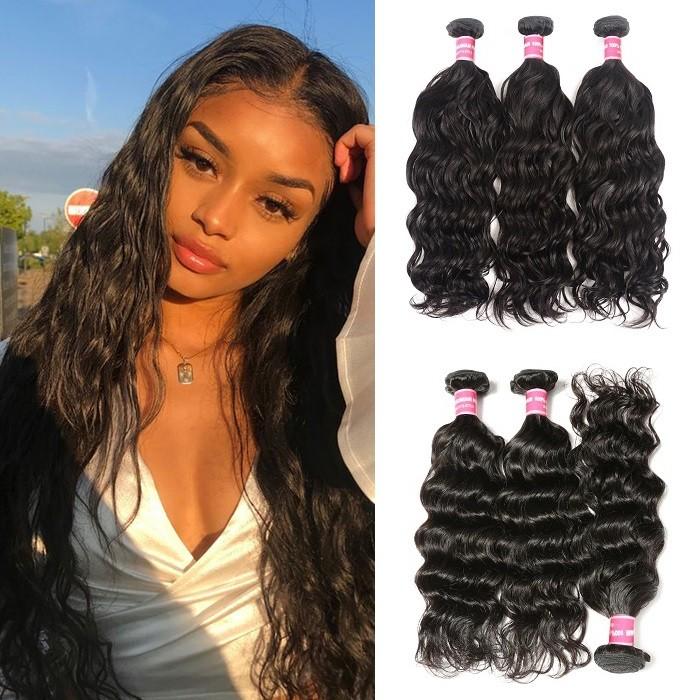 Kriyya Natural Wave Hair 3 Bundles Human Hair Bundles 8-26 Inch